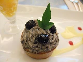 Gokan's cake, Mont Blanc Black Bean in Osaka