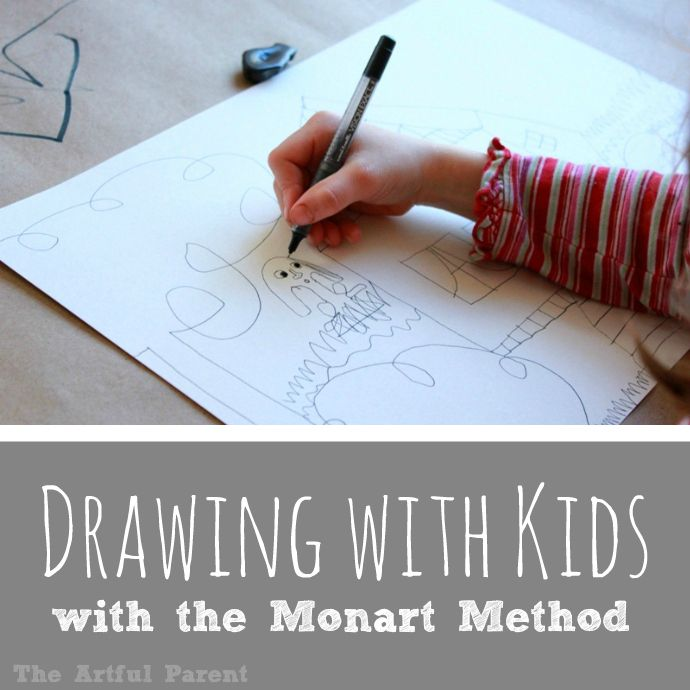Drawing with Kids with the Monart Method -- Getting started