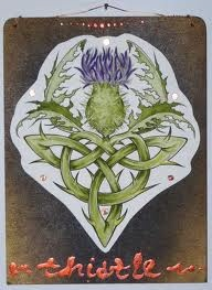 Thistle tattoo....I've been looking for something like this!  Love love love