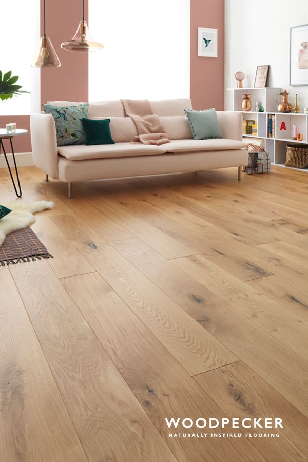 Bring nature right into your room with the wide and wondrous planks of Harlech Rustic Oak flooring. Get a free sample at our website.