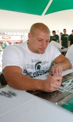 Michigan State football fans of all ages are invited to attend the 11th-annual Meet The Spartans, presented by Pepsi, on Tuesday, Aug. 13 from 5-8 p.m. in Spartan Stadium. Seventh-year Michigan State head coach Mark Dantonio and members of the 2013 football team will be available for autographs on the south concourse inside the stadium.