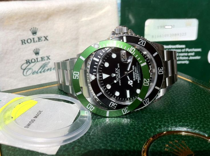Rolex Submariner Green 50th Anniversary 16610LV Y, MK I DIAL, FLAT