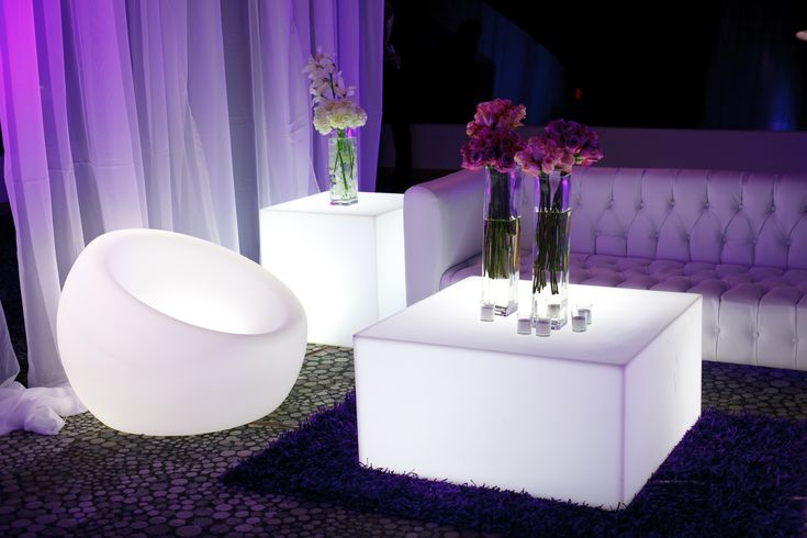 Lounge Furniture Lounge Area LED Furniture Illuminated Furniture Modern Event Design