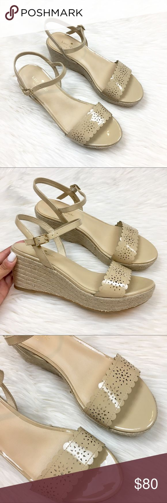 Kate Spade nude espadrilles wedges! ugh these are so cute. the perfect spring and summer shoes to your favorite summer dress. Cute sun cutout design on front and cute espadrille wedge. Brand new! But don't have original box kate spade Shoes Wedges