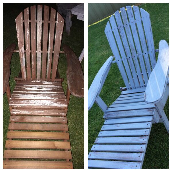 Up cycled deck chair
