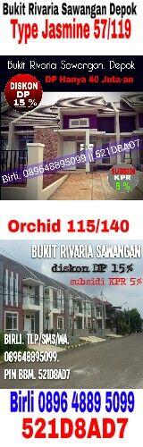 Rumah dijual, bukit rivaria sawangan depok. Birli 089648895099 || 521D8AD7. Gapura prima. Benner