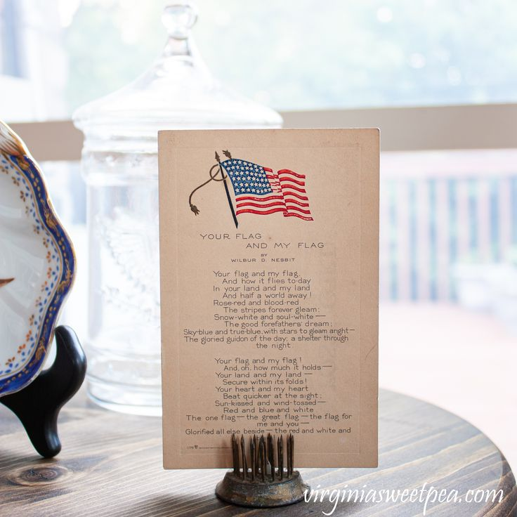 Patriotic Porch Display with Vintage
