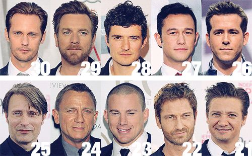Behind Time magazine's Top 50 sexiest men...