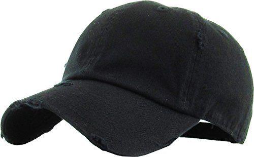 16d7d3d7e KBE-VINTAGE BLK Vintage Washed Cotton Dad Hat Baseball Cap Polo ...