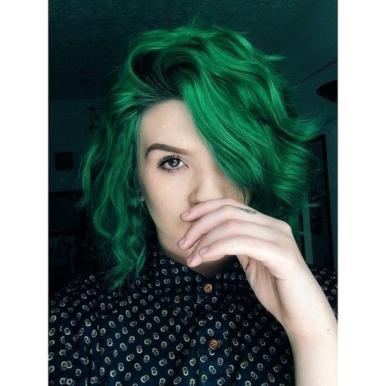 guy curly hairstyles : Dark Green Hairstyles 1000+ ideas about dark green hair dye on ...
