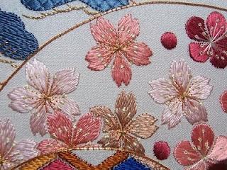 Japanese Embroidery: Sakura - Cherry Blossom