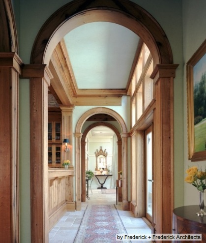 paint color with natural wood molding