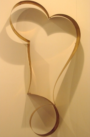 Orecchio interiore, 1996  brass, cm 224x132x38