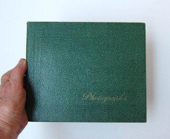 Vintage 1960s Britain green textured photograph album by evaelena, $18.00