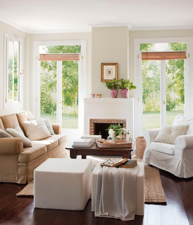 17 mejores ideas sobre chimenea blanca en pinterest for Salones pequenos blancos