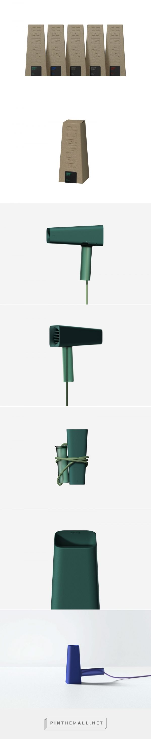 Hammer Dryer packaging design by Jang Junyoung - http://www.packagingoftheworld.com/2017/09/hammer-dryer.html