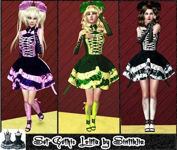 Платье лолиты для симс 3