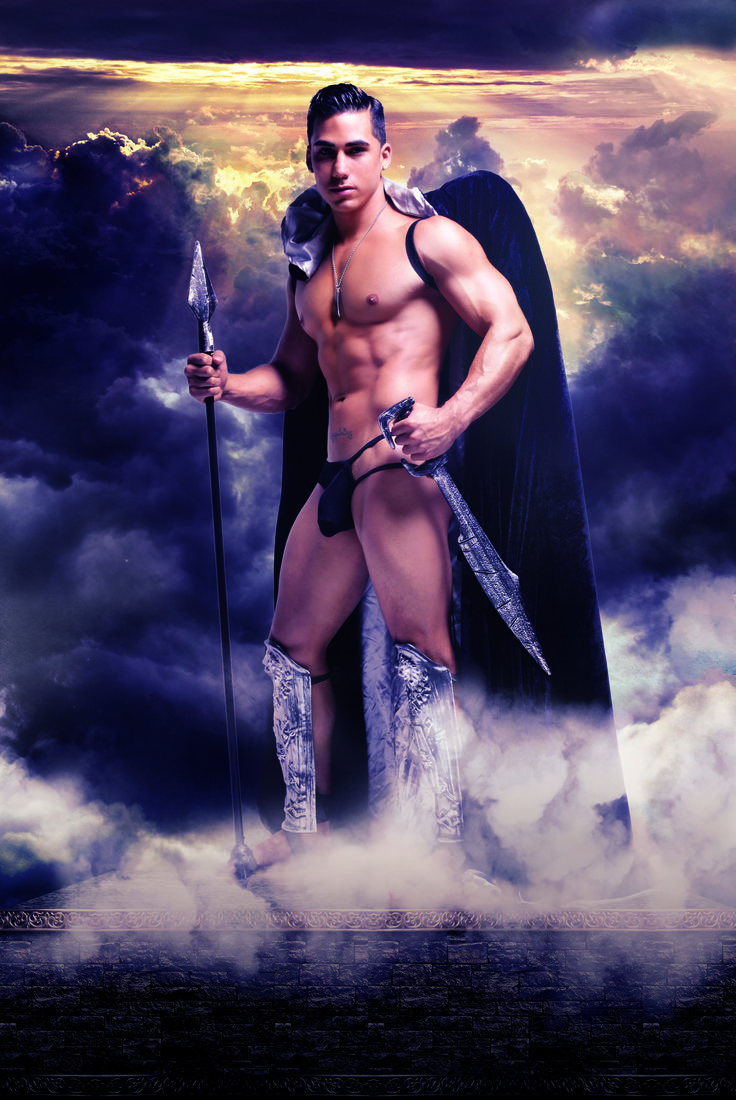 Topher DiMaggio is the King of the black winged angels #topherdimaggio #andrewchristian #trophyboys
