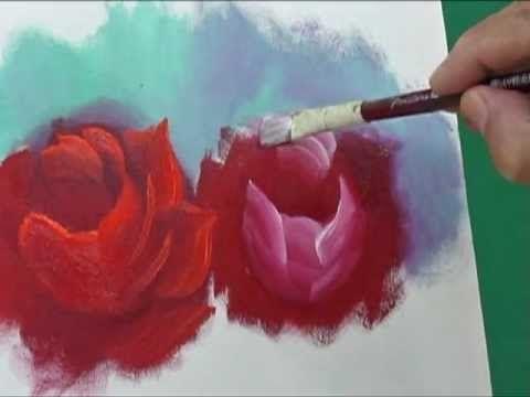 Pintando rosas com Marcio Monteiro (aula 4 - YouTube                                                                                                                                                      Mais