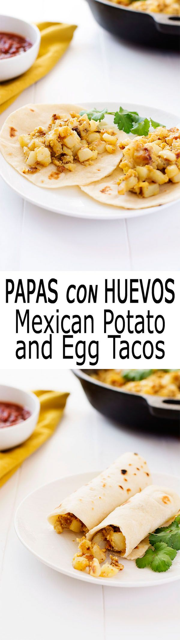 Papas con Huevos is Spanish for potatoes with eggs. Abuela's recipes for the best breakfast tacos! | Kitchen Gidget #SundaySupper