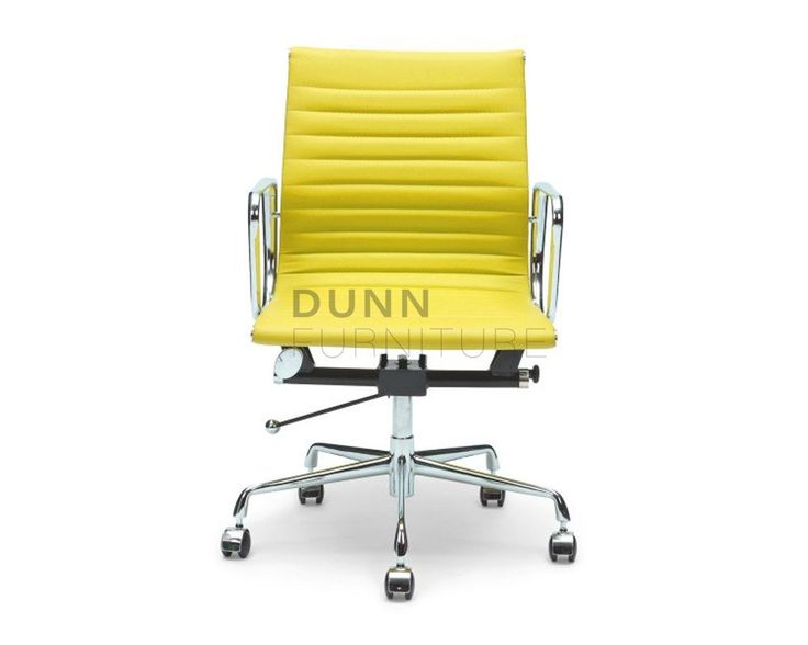 Management Leather Office Chair Eames Replica Yellow