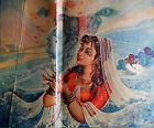 India 1950's Vintage Print of Painting Radha Krishna/Woman of JP Singhal mounted