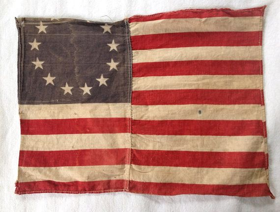 Old 13 Colonies Flag  Small Replica by 2Renew on Etsy