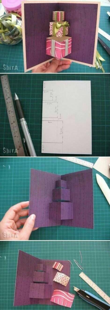 Изготовление открыток ручная работа мастер класс
