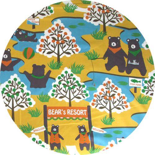 Yuwa, Bear's Resort Yellow (24 inch panel)