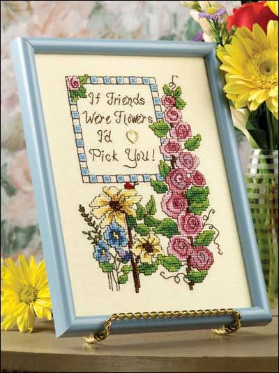 Cross-Stitch - From the Garden - Fruit & Florals - If Friends Were Flowers - #FX00164