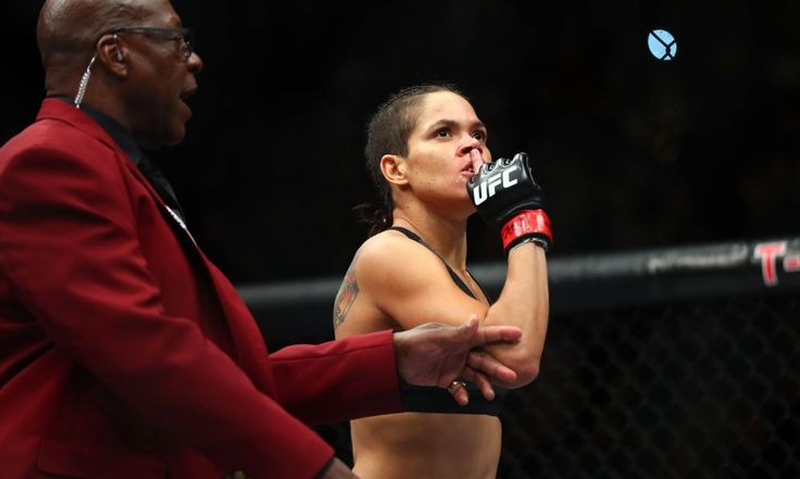 December 30, 2016; Las Vegas, NV, USA; Amanda Nunes  reacts following her TKO victory against Ronda Rousey  during UFC 207 at T-Mobile Arena. Mandatory Credit: Mark J. Rebilas-USA TODAY Sports ORG XMIT: USATSI-353752 ORIG FILE ID:  20161230_gav_su5_161.jpg