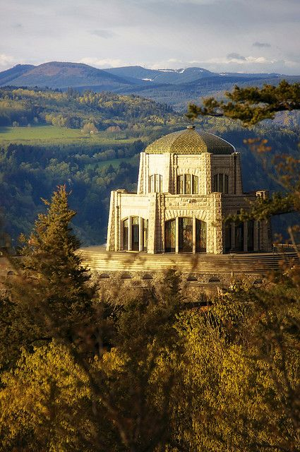 The Vista House at Crown Point State Park, Corbett, Oregon