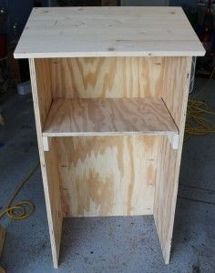 I would love for my hubby to make me a few of these for my busy movers and shakers who love to stand. I think I could have stools to if they do wnt to sit!