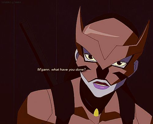 """Season 2 Episode 10 Before the Dawn: Tigress/Artemis Crock: *After Miss Martian fried Aqualad's brain for """"killing"""" Artemis* Artemis: """"M'gann, what have you done?"""" Miss Martian: """"I thought he killed you and that he deserved..."""""""