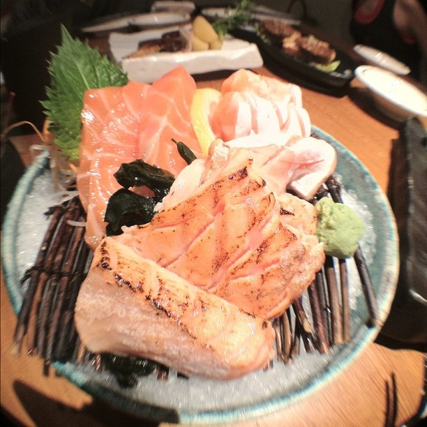The best salmon sashimi yet... At Sun with Moon at Wheelock Place