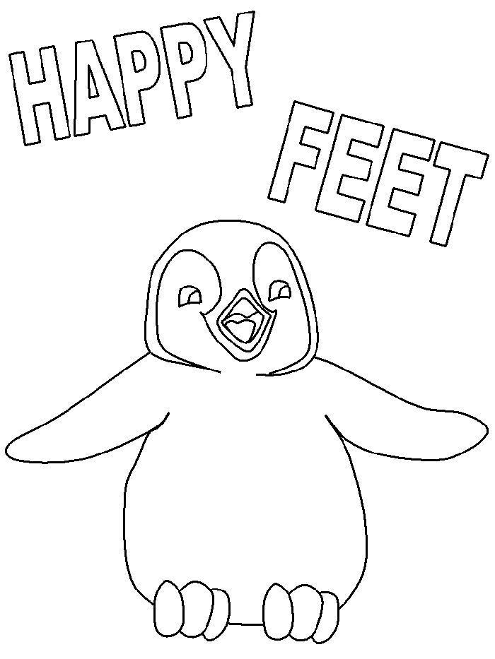 care bears coloring pages to print | Happy Feet coloring page