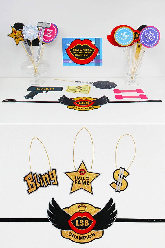 Lip Sync Battle Party Decorations Lip Sync by CreativeSenseCo