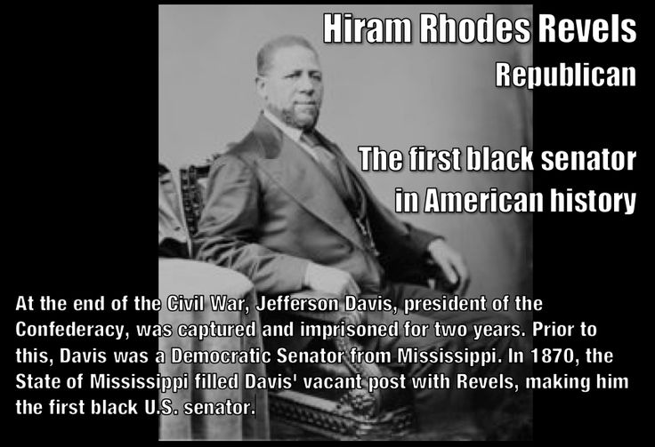 Jackie's Historical Facts: Hiram Rhodes Revels-1st African