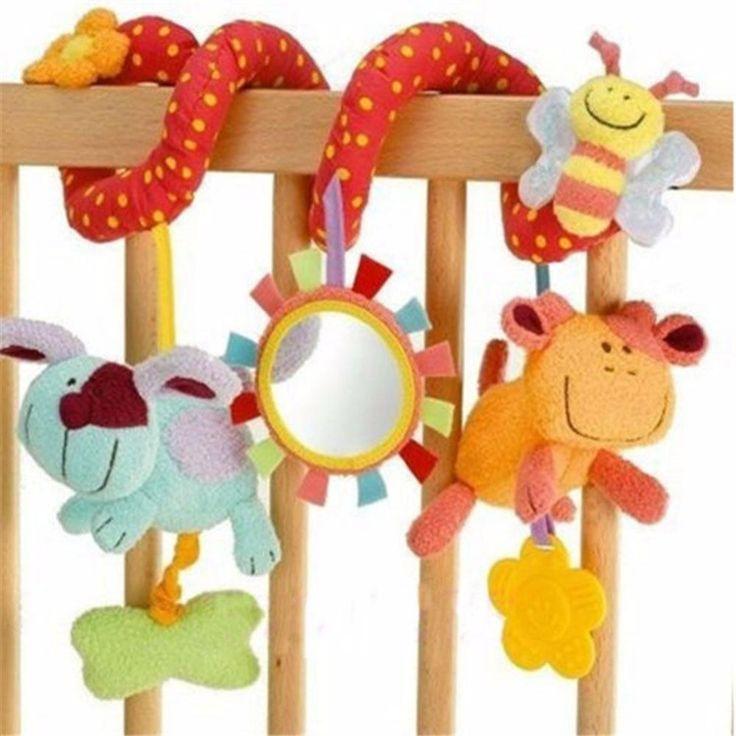 Peradix newborn baby toys 0-12 mesi farcito passeggino toys animale bambino letto carrozzina appeso formazione sonaglio toys