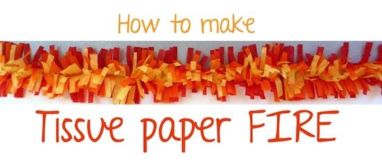 That Cute Little Cake: {Craft} How to make tissue paper fire