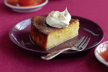 Make the most of seasonal mandarins in this Middle Eastern style cake topped with thick spiced cream.