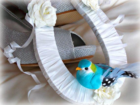 Wedding Horseshoe Bridal Horseshoe Wedding Day by LouSimArt
