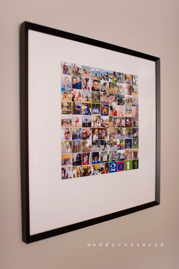 A year in pictures, using template from paislee press