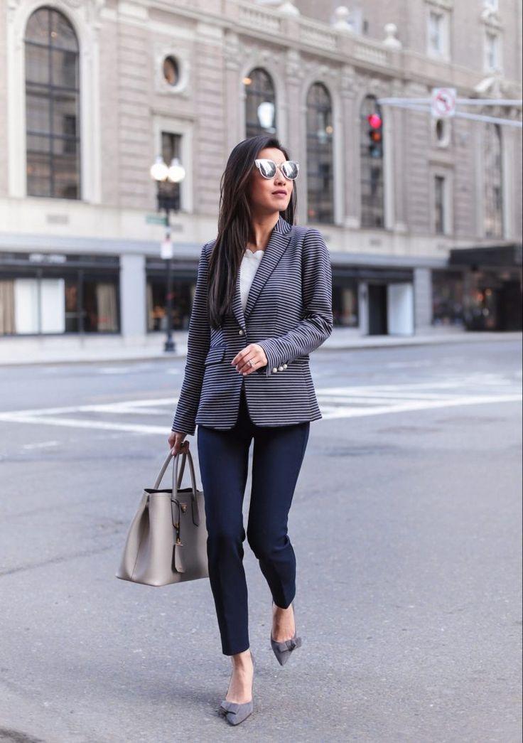 Striped blazer   the best-fitting pants (no waist gap!)