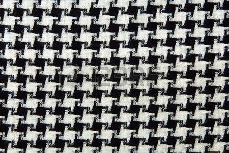 tweed: Черно-белый узор ломаную текстура хлопка