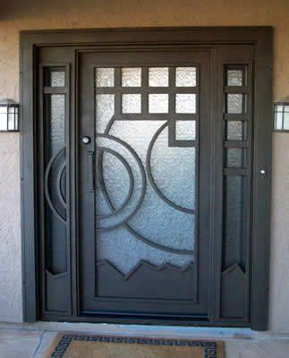 puertas de herreria y cristal