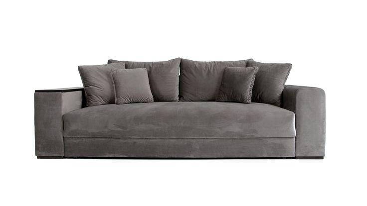 Silver Björnen bäddsoffa i sammet. Soffa, sammet, smart förvaring, compact living, djup, säng, vardagsrum, sovrum, möbler, möbel, inredning.