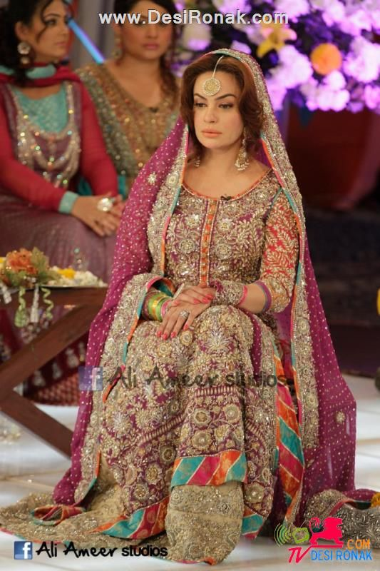 Pakistani Celebrity Wedding Sadia Imam Gorgeous Bridal Dress