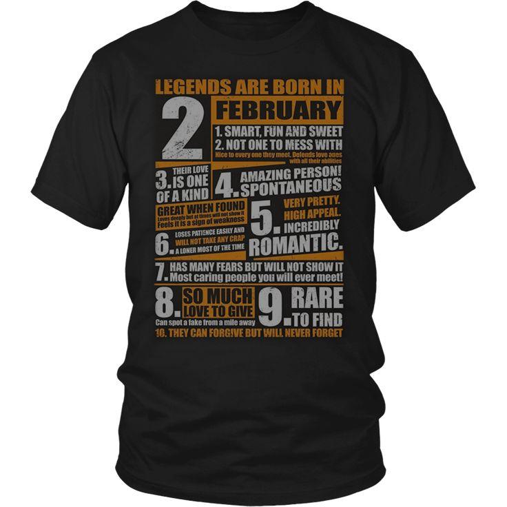 Legends Born In February T-Shirt Aquarius Pride
