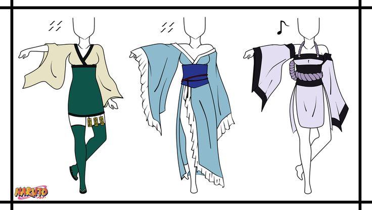 Naruto Adoptable Outfit Set 2 - Closed by Orangenbluete.deviantart.com on @DeviantArt
